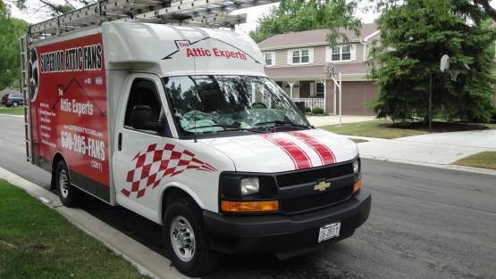 attic fan van - attic experts illinois