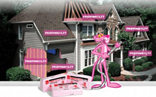 pink fiberglass insulation