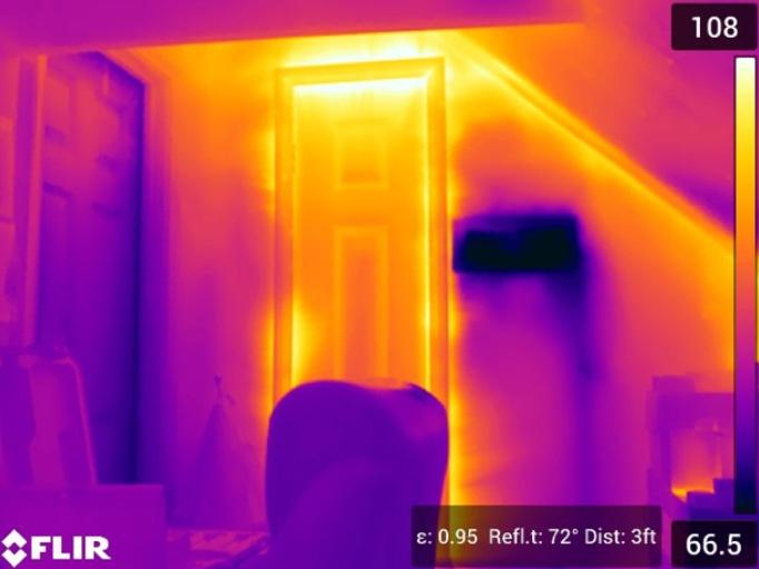 Heat Loss Seen by Flir